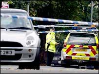Police at scene of Gray's murder