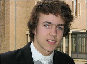 Eton pupil Marcus Fishburn