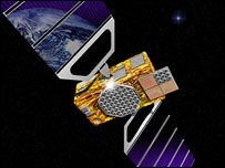 Representación de un satélite del sistema Galileo
