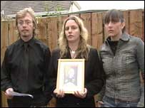 Mr Gilchrist's children Martin, Catherine and Ann read a statement