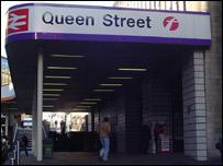 Queen Street station sign