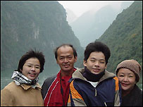 Jadryn Loo and her family on holiday in China