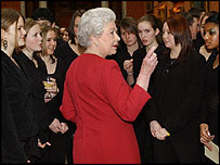 The Queen meets members of the City of Birmingham Young Voices Choir