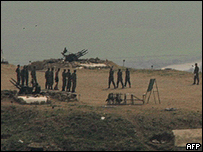 Syrian forces in the Bekaa Valley in central Lebanon