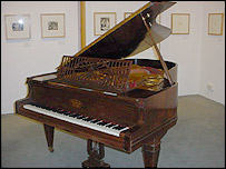 The grand piano which may have a history linked to Hitler's inner circle