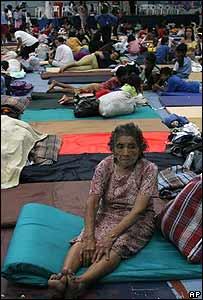 Refugio comunitario en Tapachula, México.
