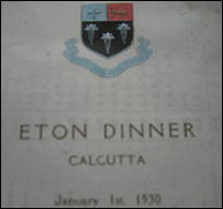 Invitation to Eton dinner in India