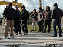 Would-be immigrants in Calais