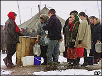 Chechen refugees in Ingushetia