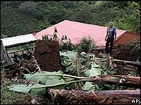 Deslave en Naranjo, Costa Rica