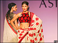 Indian models in a fashion show
