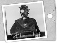 M�scara de gas (foto de archivo)