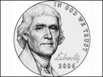 New five-cent piece (Image: US Mint)