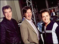 Top Gear presenters (left to right) Jeremy Clarkson, James May and Richard Hammond