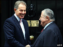 Blair meets Talabani in Downing Street