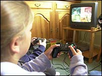 Image of computer game playing