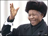Nelson Mandela in London, February 2005