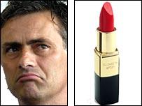 Jose Mourinho and lipstick
