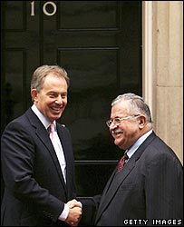 Mr Blair and Mr Talabani