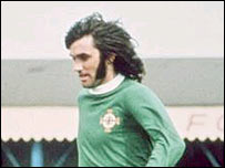 George Best in Northern Ireland colours