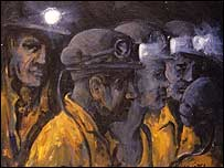 Miners painted by Valerie Ganz