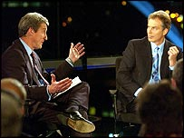 Jeremy Paxman and Tony Blair on Newsnight
