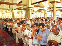 Prayer at a Cairo mosque