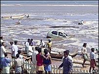 A beach in Tamil Nadu, India, after the tsunami