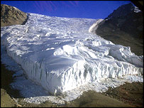 Rhone Glacier, Antarctica.  Image: Glaciers Online/Michael Hambrey