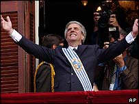 Uruguayan President Tabare Vasquez