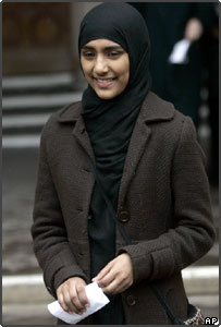 Shabina Begum leaves the High Court in London on Wednesday March 2 2005