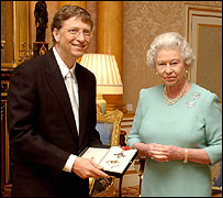 Bill Gates and the Queen