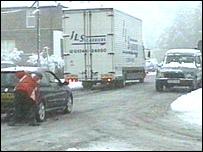 Snow in Crowborough