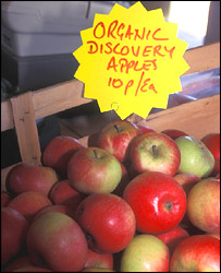 Organic apples, BBC