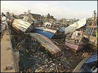 Tsunami devastation in Nagappattinam