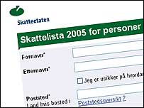 Tax list search engine