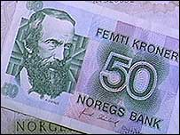 Norwegian 50-kroner note