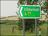 A77 sign