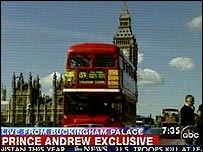 Still from ABC's coverage from London