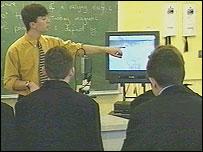 Teacher with pupils