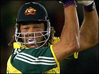 Andrew Symonds in action for Australia
