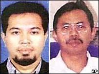 Noordin Mohamed Top (right, photo: AP) and Azahari Bin Husin (photo: AP)