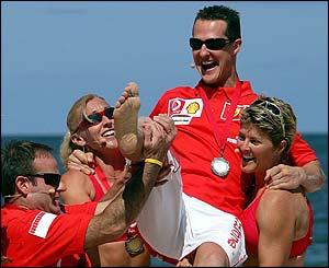 Even Schumacher's new team-mates are bored of him winning