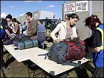 Fans at Glastonbury 2004