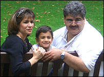 Photo of Anthony Khodayeki with his parents