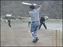 Tibetans play cricket