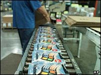 Windows 98 on the production line