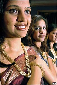 Indian women wearing jewellery