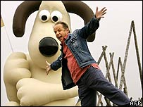 Nick Park with Gromit