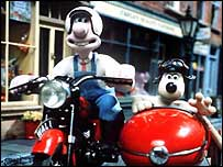 Animated characters Wallace and Gromit